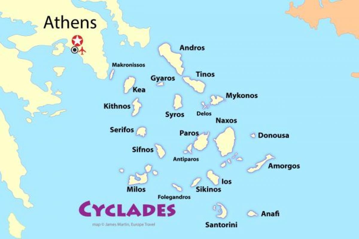 Atena Insulele Harta Insulele Grecești Din Apropiere De Atena